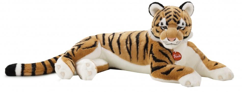 Trudi Knuffel tijger Sasha 57 cm oranje/ zwart