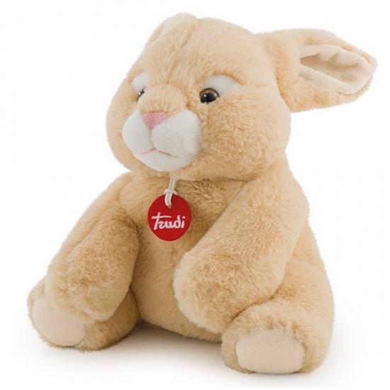Trudi Opwarm knuffel konijn 26 cm bruin