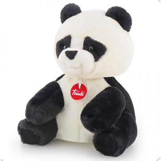 Trudi Opwarm knuffel panda 26 cm zwart/wit
