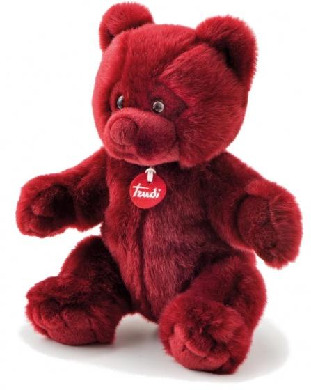 Trudi knuffelbeer pluche 38 cm rood