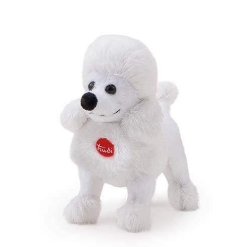 Trudi Knuffel Hond Poedel Wit 9 cm