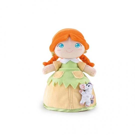 Trudi Knuffelpop Polly Groen/Oranje 24 cm