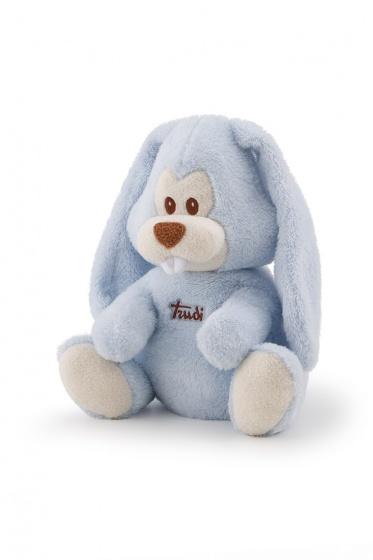 Trudi magnetronknuffel Virgillio konijn 28 cm blauw