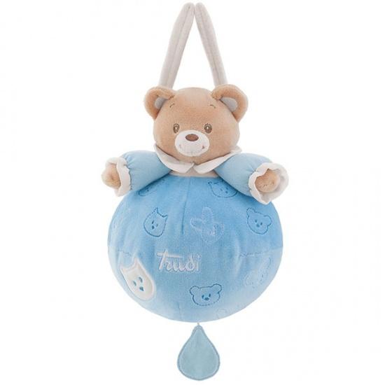 Trudi Muziekknuffel Baby Beer 20 cm Blauw