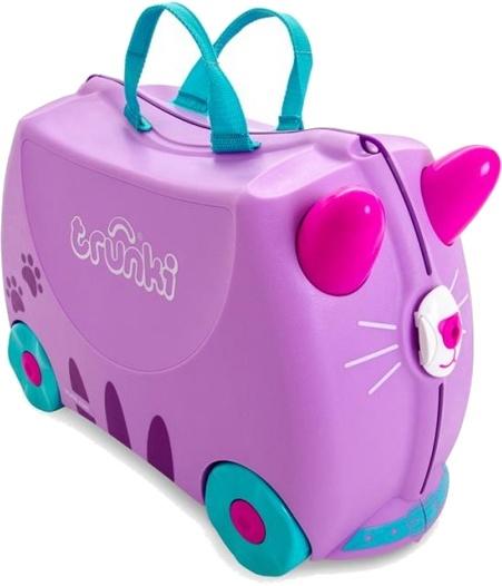 Trunki ride on koffer Cat Cassie paars 18 liter