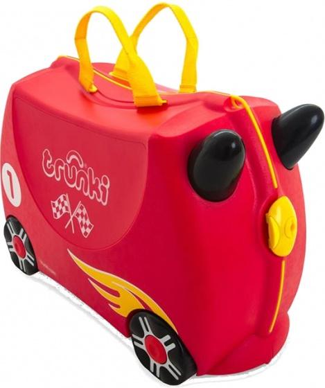 Trunki ride on koffer Racewagen Rocco rood 18 liter