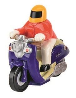 Tutti Frutti Opwindfiguur Scooter Man: 5,7 cm Rood
