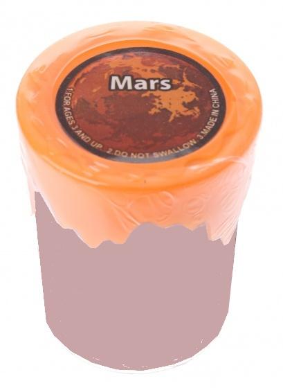 Tutti Frutti Solar Slijm Mars 5 x 6 cm oranje