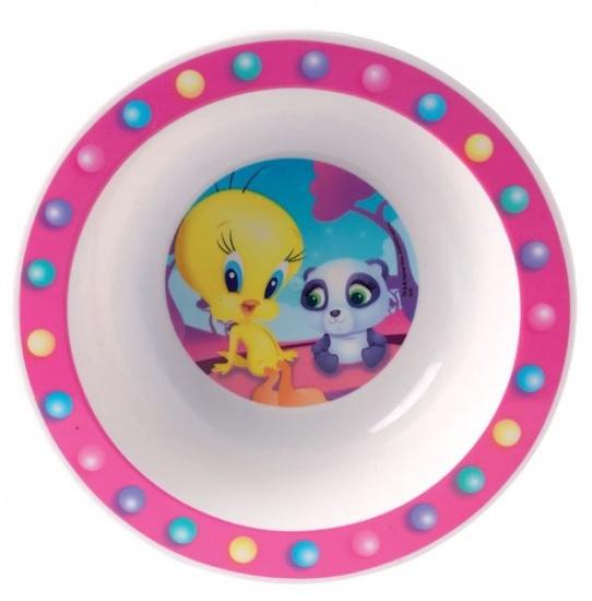 Looney Tunes Tweety Kom kunststof 16 cm roze
