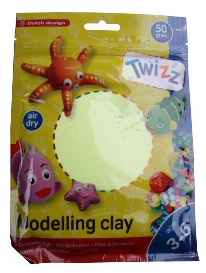 Twizz Boetseerklei 13 x 14 cm fluor geel
