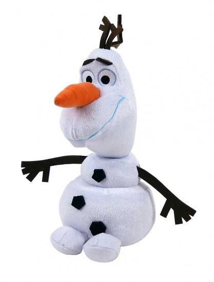 Ty Frozen Olaf knuffel met geluid 30 cm wit