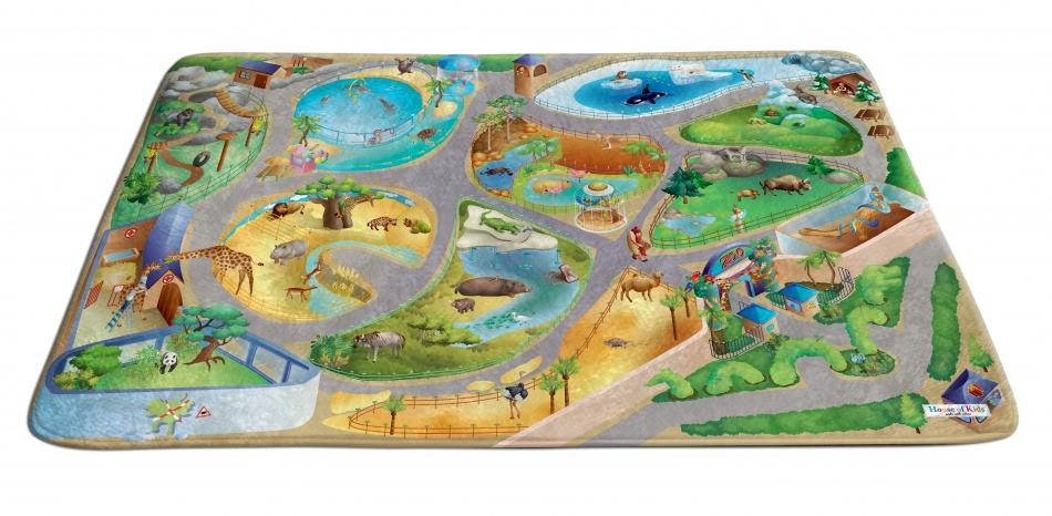House of Kids Speelkleed Zoo 130 x 180 cm