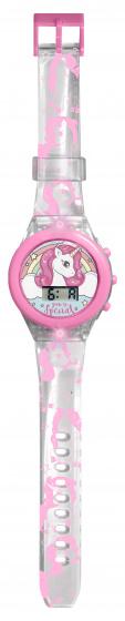 Kids Licensing digitaal led horloge eenhoorn meisjes 25 x 4 cm roze
