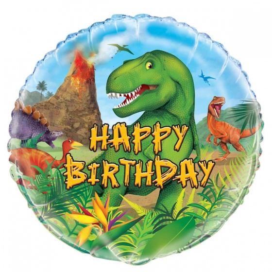 Unique folieballon Dinosaur multicolor 45 cm