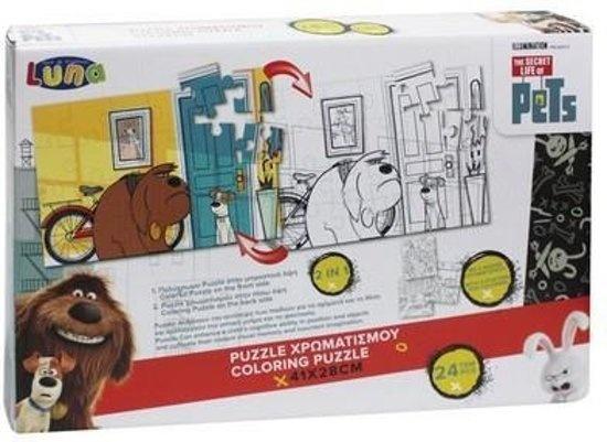 Universal 2 zijdige puzzel PG Pets 24 stukjes