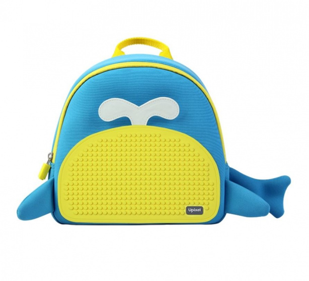 Upixel kinderrugzak Little Blue Whale jongens 38 cm blauw/geel