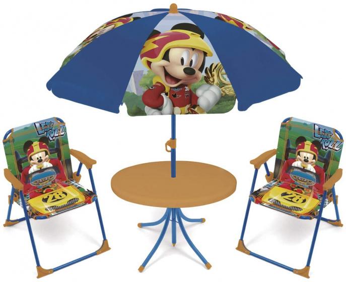 Disney tuinset met parasol Mickey Mouse 4 delig