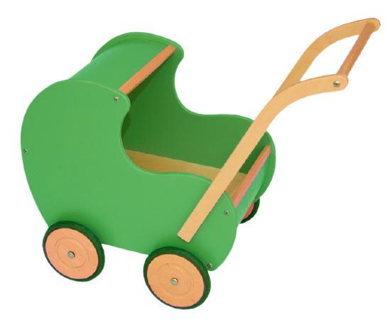 Van Dijk Toys poppenwagen retro 50 cm blauw
