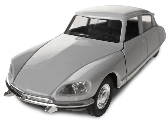 Toys Amsterdam auto Citroën DS 1973 pull back 1:34 39 staal wit