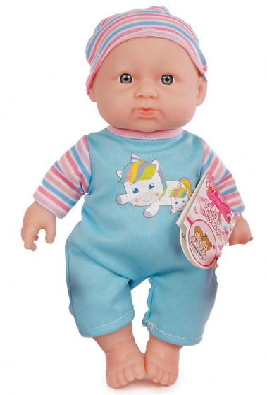 Van Manen babypop met geluid meisjes 25 cm blauw-roze