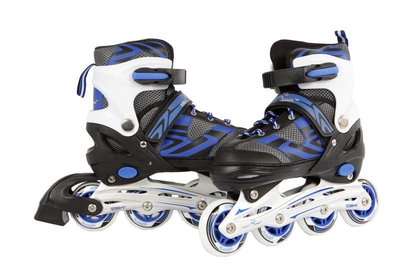 Inline skates blauw-zwart maat 35-38