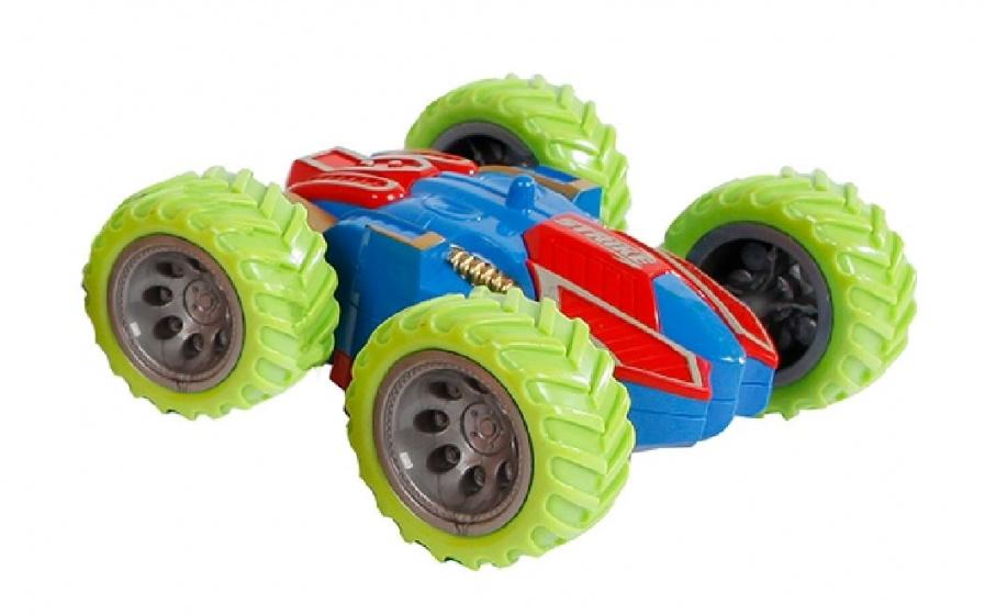 Toys Amsterdam stuntauto flip over junior 12 x 11 cm groen