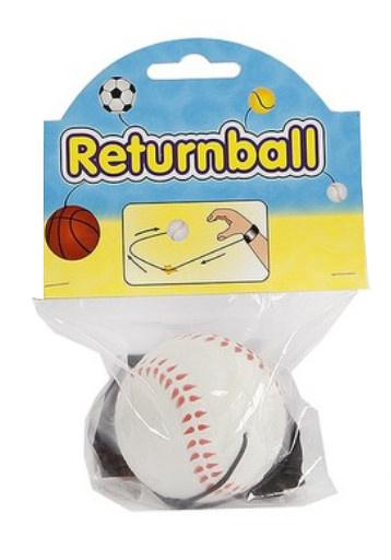 Toys Amsterdam terugkaatsbal honkbal junior 6 cm schuim wit