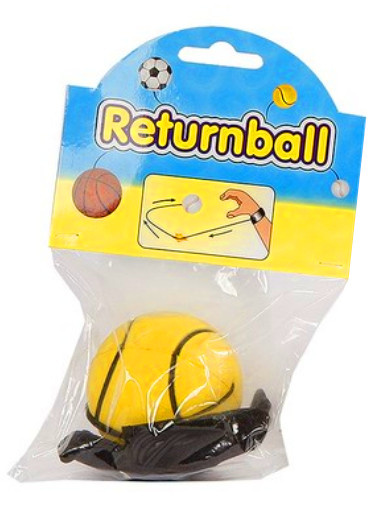 Toys Amsterdam terugkaatsbal tennisbal junior 6 cm schuim geel