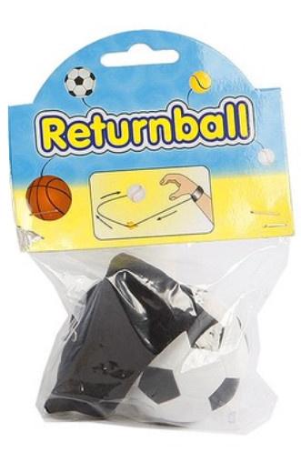 Toys Amsterdam terugkaatsbal voetbal junior 6 cm schuim zwart/wit