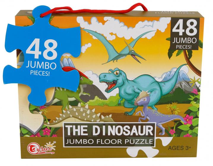 Van Manen vloerpuzzel The Dinosaur jongens 90 x 60 cm 48 stukjes kopen