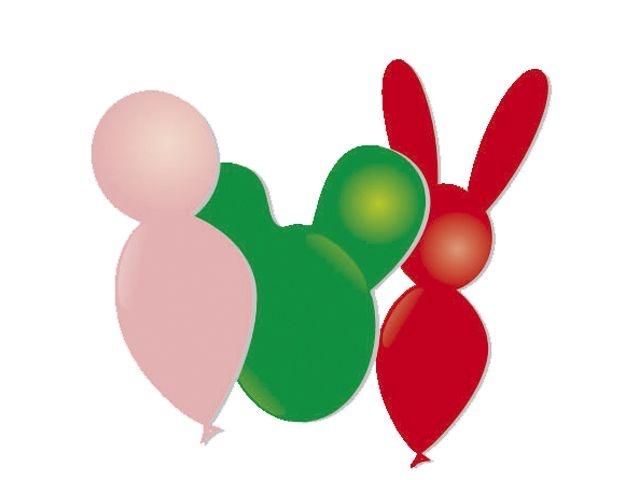 VDM Ballonnen dierfiguren 8 stuks