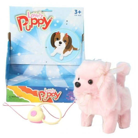 VDM Lovely Puppy interactieve knuffel roze