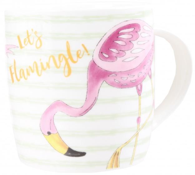 VDM mok Flamingo buig 370 ml wit groen