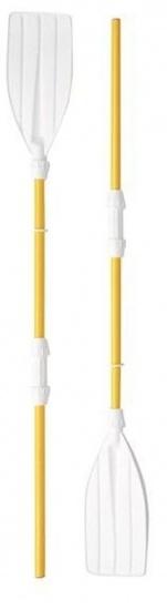 VDM set peddels kunststof geel/wit 130 cm 2 delig