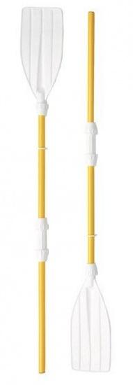 VDM set peddels kunststof geel/wit 180 cm 2 delig