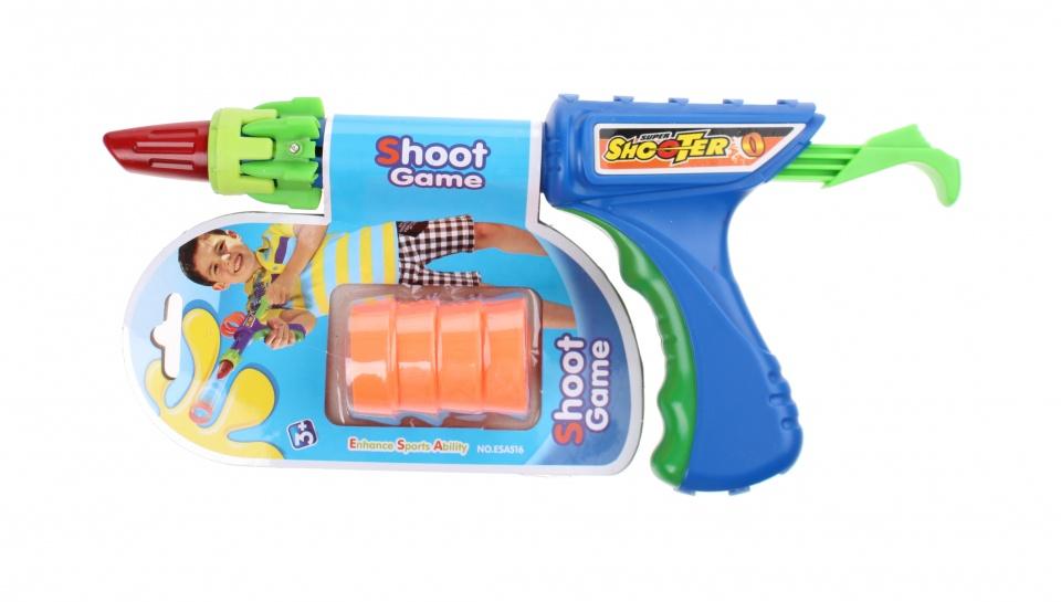 VDM Shoot Game speelgoedpistool kunststof 4 delig