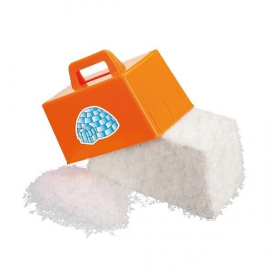 VDM sneeuwblokmaker kunststof oranje 22 x 11 cm