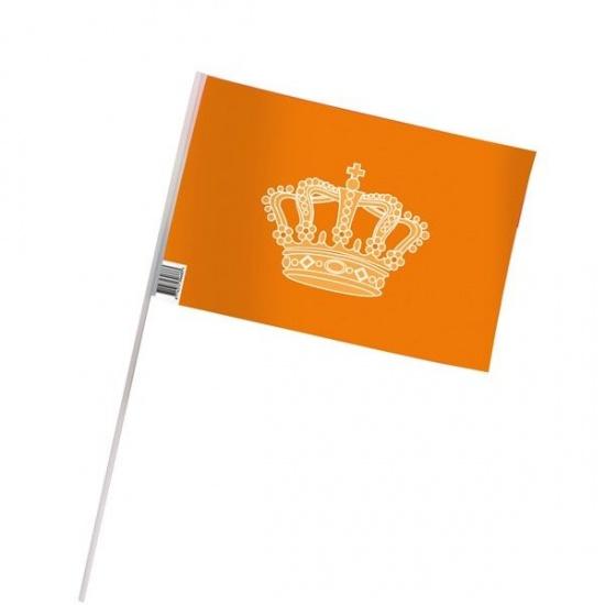 VDM zwaaivlag oranje 20 x 30 cm 50 stuks