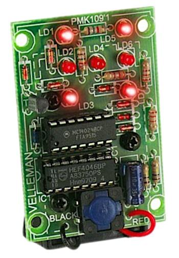 LED dobbelsteen Moeilijkheidsgraad: Makkelijk