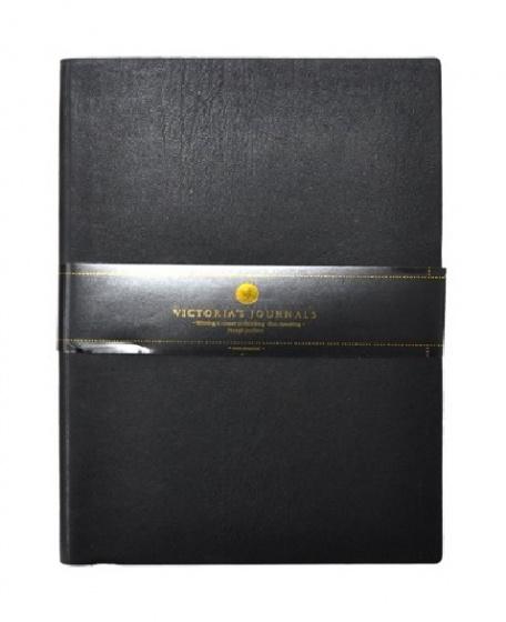 Verhaak notitieboek met bullets 15 x 21 cm papier/leer zwart