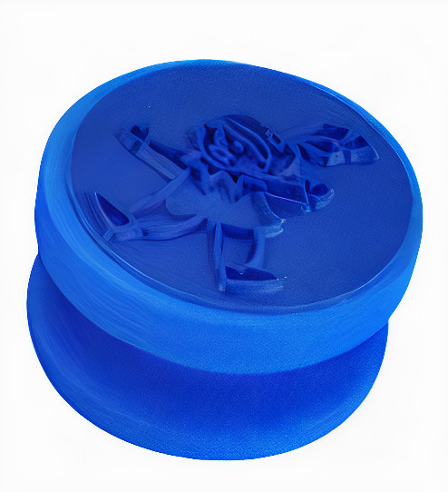 Verhaak stempel Piet junior 4 x 4 cm siliconen blauw