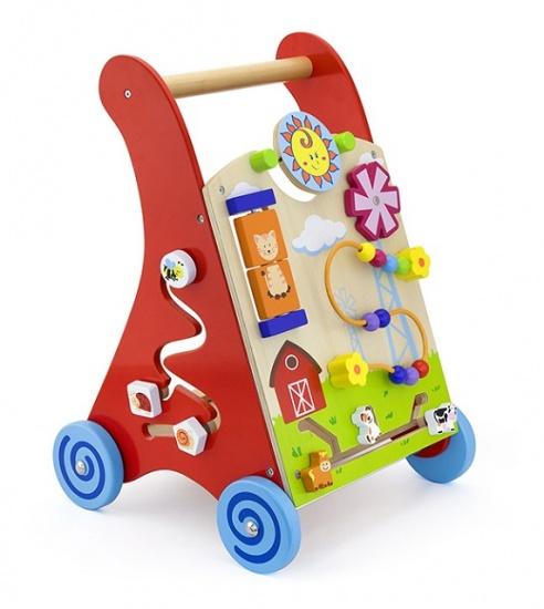 Viga Toys Activiteiten Loopwagen Rood