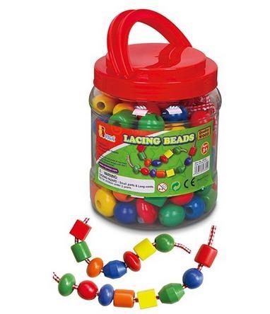 Viga Toys Grote Houten Rijgkralen 30 Stuks