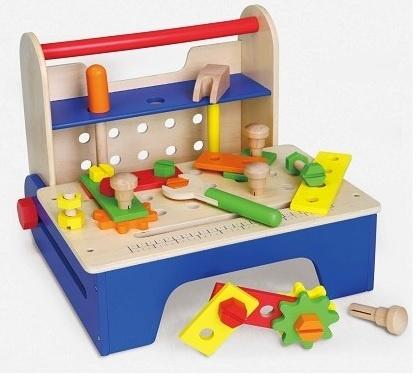 Viga Toys Houten Opvouwbare Gereedschapskist