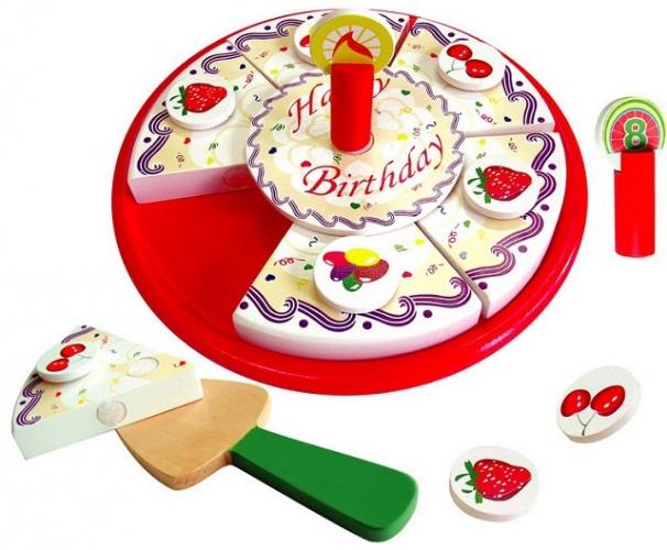 Viga Toys Houten Snijtaart Verjaardag