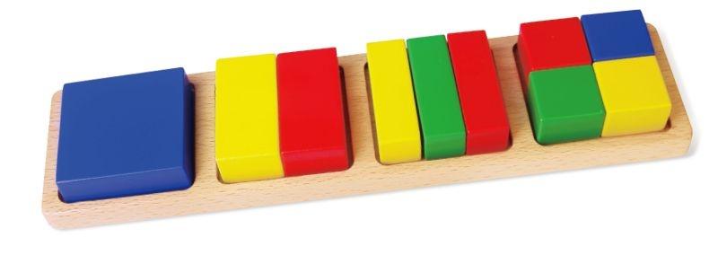 Viga Toys houten vormenpuzzel blokken 10 stukjes