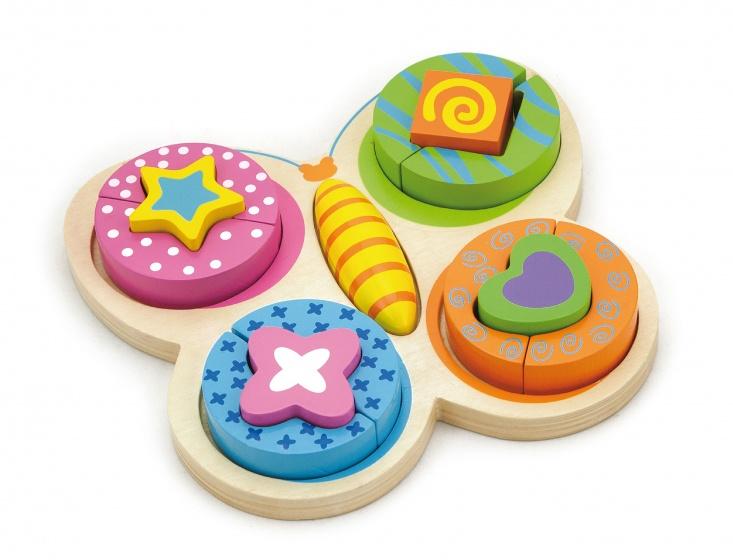 Viga Toys houten vormenpuzzel vlinder 13 stukjes