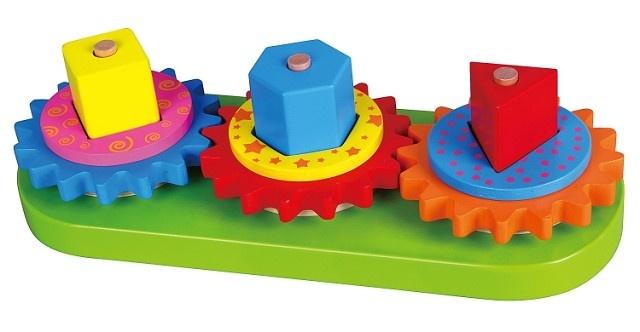 Viga Toys Insteekspel Geometrische Vormen en Tandwielen