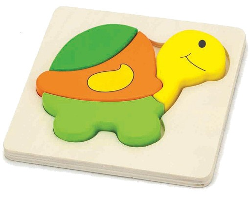 Viga Toys Mini Puzzel Schildpad 14,5 X 14,5 X 1,8 cm