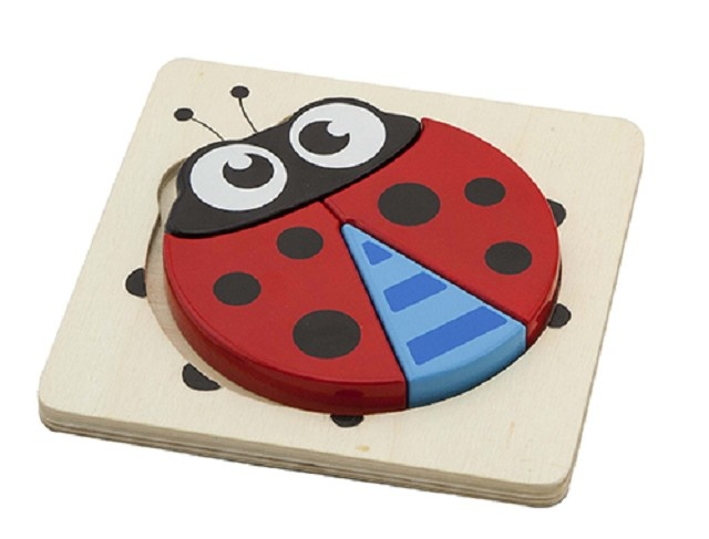 Viga Toys Houten Minipuzzel Lieveheersbeestje